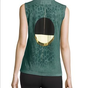Freecity tank top with golden safety pin details